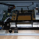 RICOH PCMCIA PCI addon card for the GRML Hackbox shown in slot